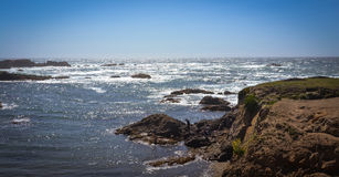 Glass Beach Trail photos in Fort Bragg CA Stock Photography