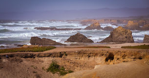 Glass Beach Trail photos in Fort Bragg CA Stock Images
