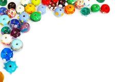 Glass bead border Royalty Free Stock Image