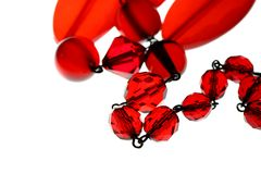 Glass bead necklace D Stock Photo