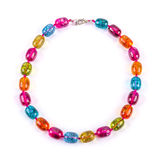 Glass bead necklace Stock Photos