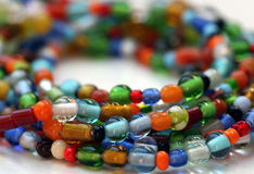 Glass beaded colourful necklace Royalty Free Stock Image