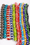 Glass beads. Beauthiful glass beads for neck jewellery Stock Photos