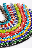 Glass beads. Beauthiful glass beads for neck jewellery Royalty Free Stock Photography