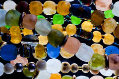 Glass beads. Close up of glass beads Stock Images