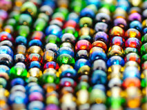 Glass beads background Royalty Free Stock Images