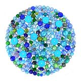 Beads in Blues Royalty Free Stock Image