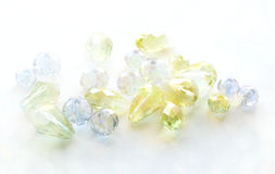 Glass beads green blue Royalty Free Stock Photos