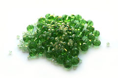 Glass beads green Royalty Free Stock Photo