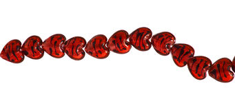 Glass beads isolated Royalty Free Stock Photography