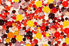 Glass beads for jewelry Stock Image
