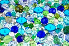 Glass beads for jewelry Royalty Free Stock Images