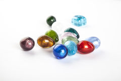 Glass Beads and Marbles Stock Photo