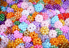 Glass beads. Multi color glass beads in sunday market thailand Royalty Free Stock Image