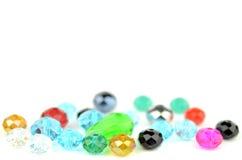 Glass beads on white Royalty Free Stock Photos