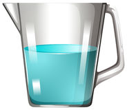 Glass beaker with blue liquid Royalty Free Stock Photography