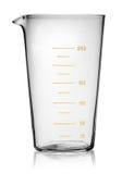 Glass beaker graduated. Isolated on white background royalty free stock images