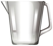 Glass beaker with handle Royalty Free Stock Images