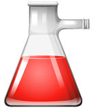 Glass beaker with red liquid. Illustration Stock Photography