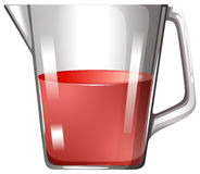 Glass beaker with red liquid. Illustration Royalty Free Stock Photo