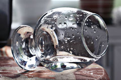 Glass beaker with water Stock Photography