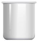 Glass beaker on white Royalty Free Stock Photo