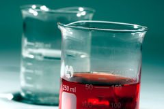 Glass Beakers Stock Photo