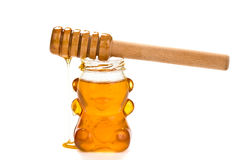Glass bear with honey inside Stock Image