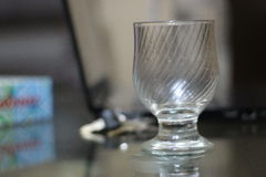 Glass. A Beautiful design glass placed on table Royalty Free Stock Photography
