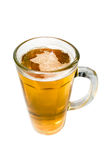 Glass of beer. Beer mug, alcoholic beverage. Isolated over white background Stock Photography