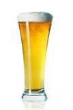 Glass of beer. Glass of cold light beer stock photo