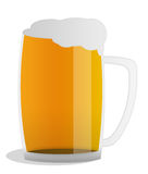 Glass of beer. Big glass of bright beer Stock Photo