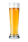 Glass of beer. On white background. Isolate Stock Photos