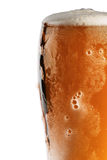Glass of beer. With froth on white background Royalty Free Stock Image