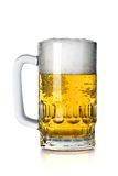 Glass of beer. Isolated on a white background royalty free stock image