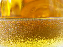 Glass of beer. Detail of the glass of beer Royalty Free Stock Images
