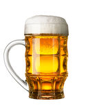 Glass of beer. Isolated on white background royalty free stock photos