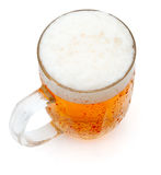 Glass of Beer. Glass of Draught Beer on White Background royalty free stock photos