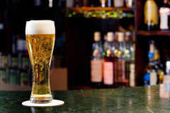 Glass with beer Royalty Free Stock Image