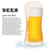 Glass-of-beer Royalty Free Stock Photos