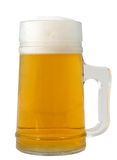 Glass of beer. Isolated glass of beer with foam Royalty Free Stock Images