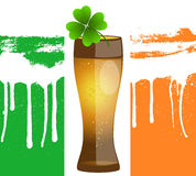 Glass of Beer Background. Creative Abstract Vector Illustration of Glass of Beer Background Stock Photo