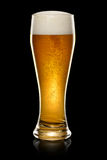 Glass of beer on black Royalty Free Stock Photos
