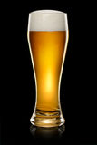 Glass of beer on black Royalty Free Stock Images