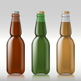 Glass beer bottle Stock Photography