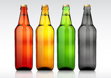 Glass beer bottle. Royalty Free Stock Photo