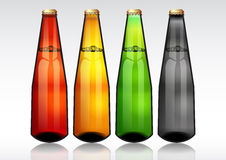 Glass beer bottle. Royalty Free Stock Photography