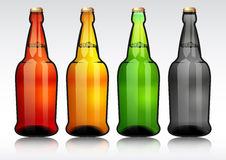 Glass beer bottle. Royalty Free Stock Photos