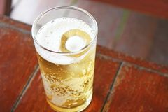 Glass of beer. Close up Glass of beer stock photography