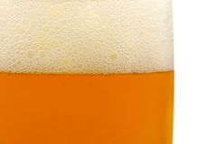 Glass of beer, close-up Royalty Free Stock Photo
